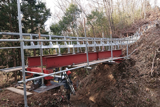 工事用モノレール設置(陸橋)