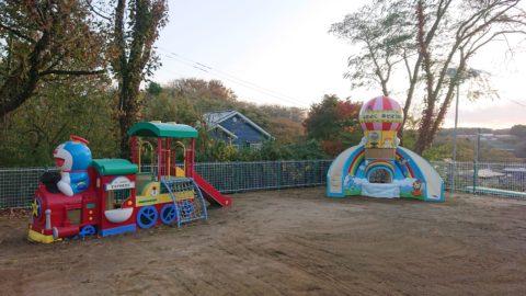 青森県八戸市 某幼稚園 遊具移動工事の施工前と後