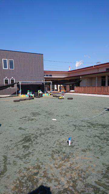 静岡県静岡市 某幼稚園 築山新設工事の施工前と後