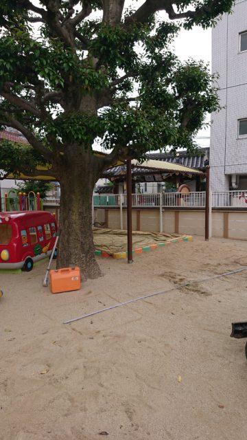 愛知県名古屋市 某幼稚園遊具設置工事