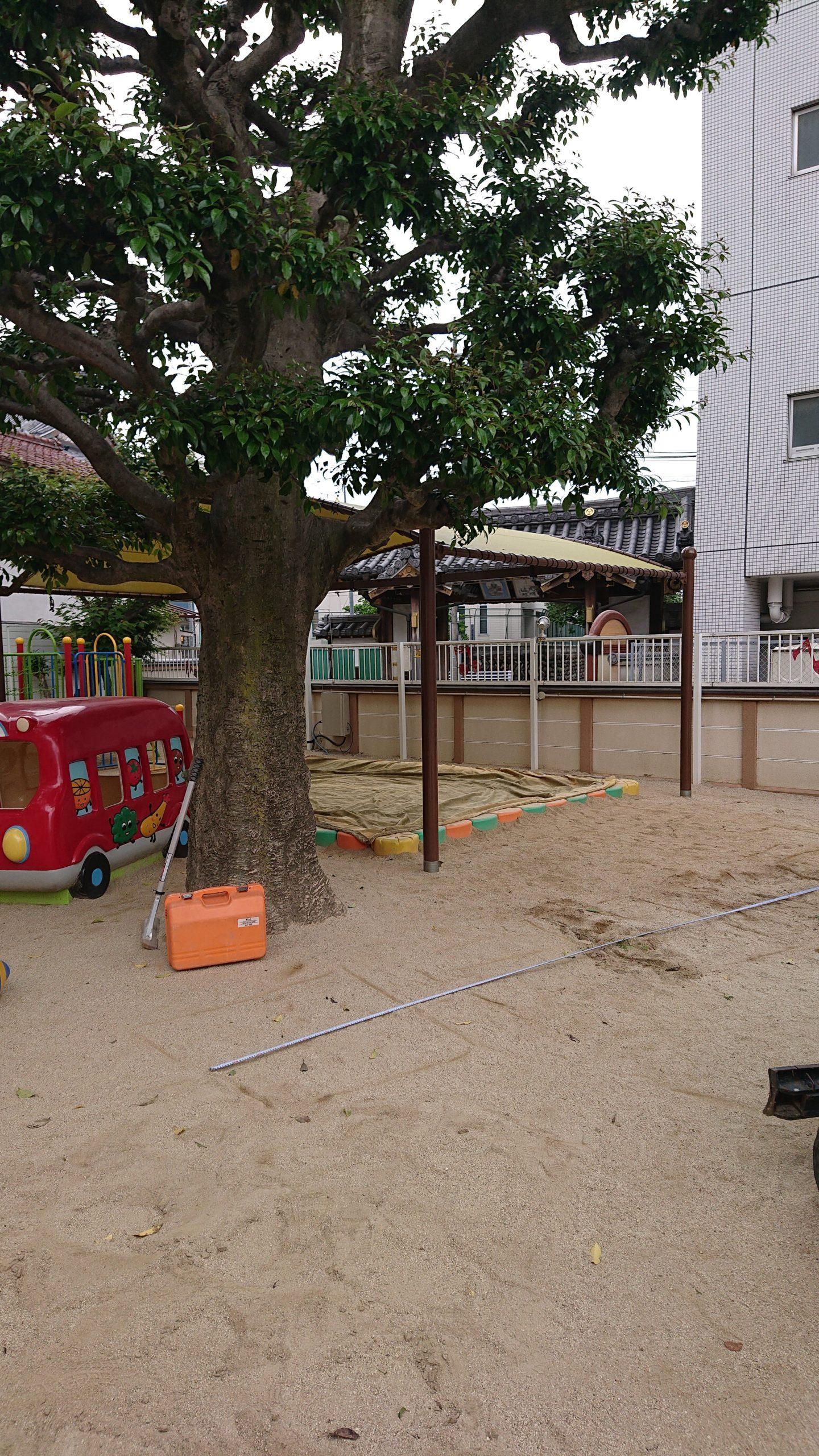 愛知県名古屋での 遊具の設置